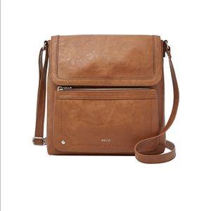 Relic Evie Flap Crossbody Bag Cognac